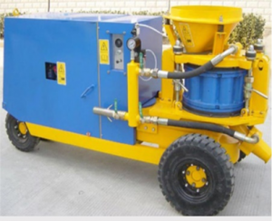 DIESEL ENGINE WET-DRY MIX SHOTCRETE MACHINE
